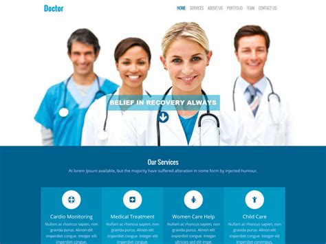 17 free medical html website templates templatemag
