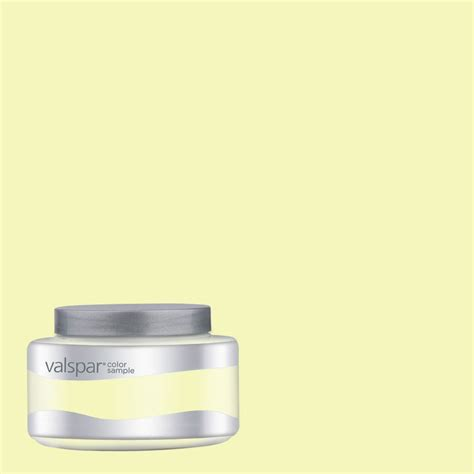 shop valspar 8 oz buff yellow interior satin paint sle at lowes