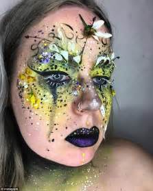 Flower Based Cosmetic Preparations by Make Up Artist Ellie Costello Covers In Flowers