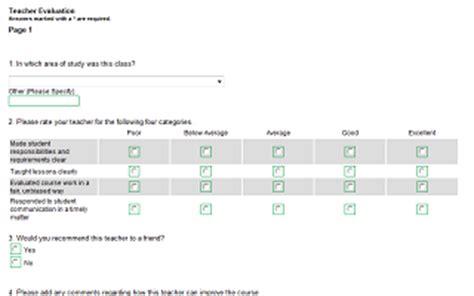 Education Surveys Free Questionnaire Templates Online Survey Software Software Survey Template