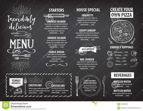 graphic design cafe menu restaurant cafe menu template design stock vector