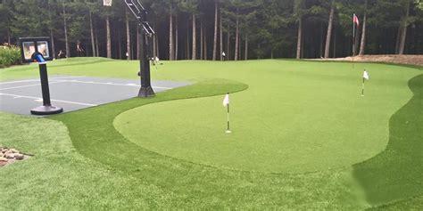 large golf green  basketball court