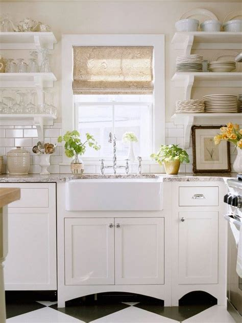 kitchen open cabinets cottage farmhouse kitchens inspiring in white the