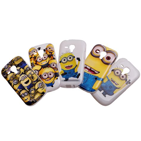 Minion Despicable Me Tpu Samsung Galaxy S5 Gray despicable me jaune minions silicone peint light gel tpu imd cas de t 233 l 233 phone couverture