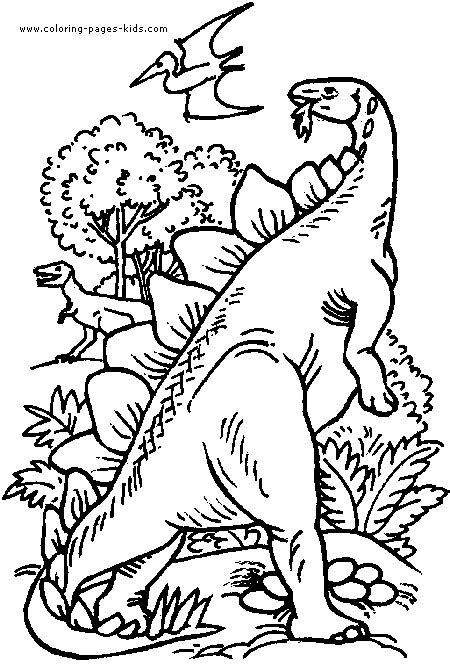 dinosaur jungle coloring page dinosaur jungle color page