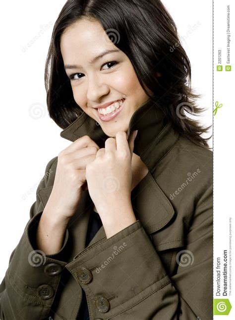 S Oliver Green Eastwest pretty in coat stock photos image 2201263
