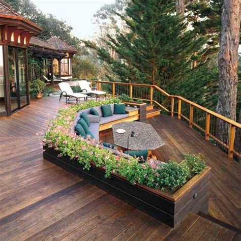 Built In Deck Planter Boxes by Liking The Planter Boxes Bench Seating Photo Philip