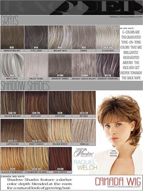 raquel welch hair color raquel welch wig color chart canada wigs