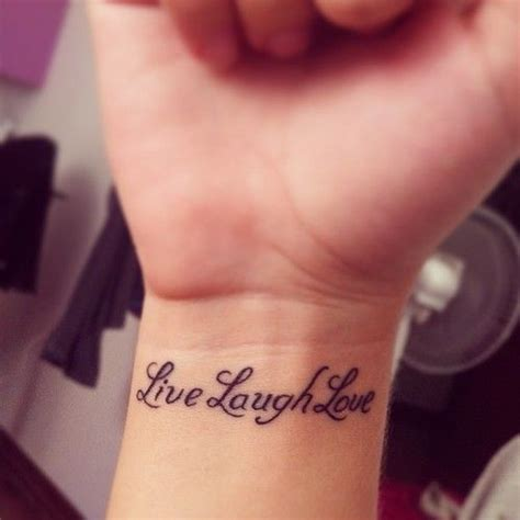 live laugh love wrist tattoo live laugh