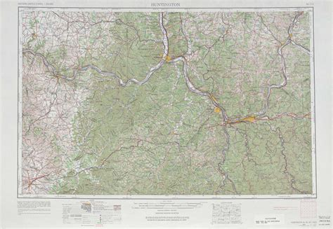 printable ky road map huntington topographic maps ky oh wv usgs topo quad