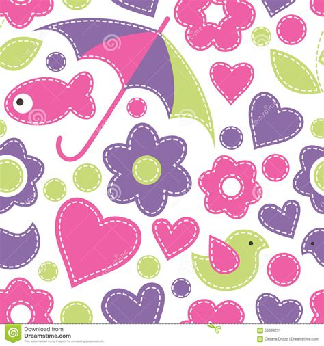 cute cartoon pattern seamless pattern cute cartoon fish vector illustration