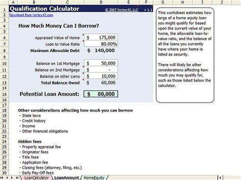 housing loan calculation home equity calculator free home equity loan calculator for excel