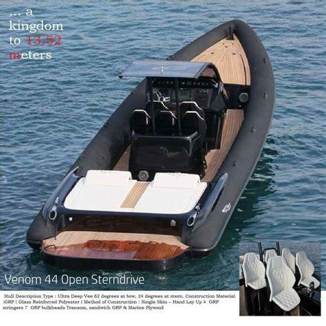 rib boat makes venom 44 open sterndrive luxury powerful family friendly