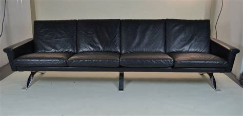 maurice villency sofa maurice villency four seat leather sofa at 1stdibs