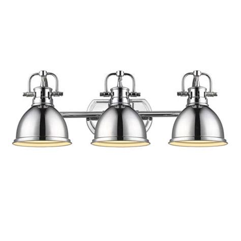 Golden Lighting Fixtures Golden Lighting Duncan Chrome Three Light Vanity Fixture On Sale