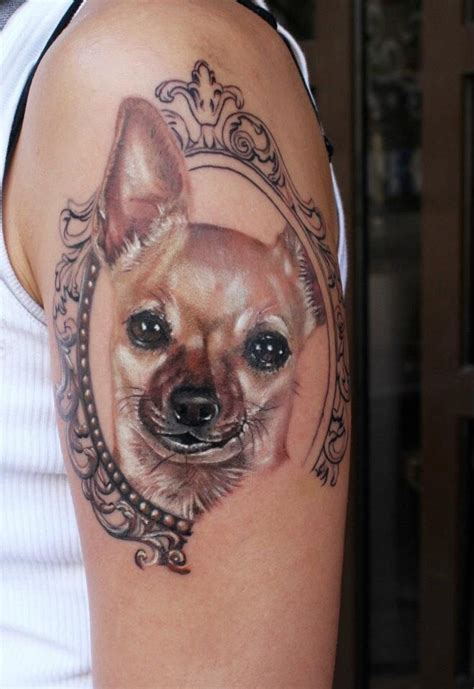 chihuahua tattoo this i want something like this for my