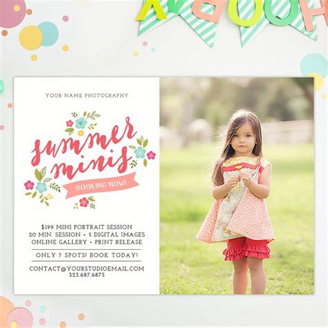 template photoshop summer 26 best mini session marketing templates for photoshop