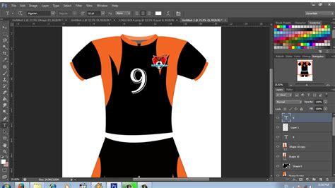 cara desain jersey lewat photoshop cara desain kaos olah raga dengan photoshop youtube