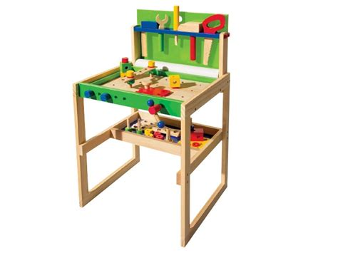 wooden work bench for children playtive junior wooden workbench lidl great britain