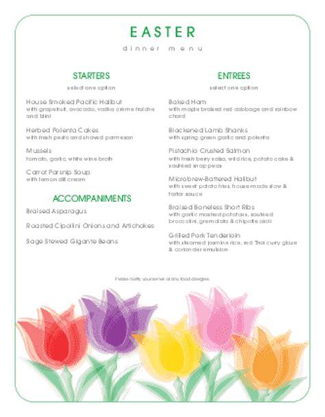 traditional easter brunch menu easter menus