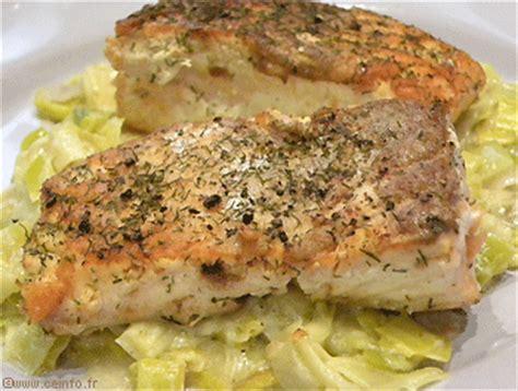 pav 233 de saumon grill 233 sur lit de fondue de poireaux