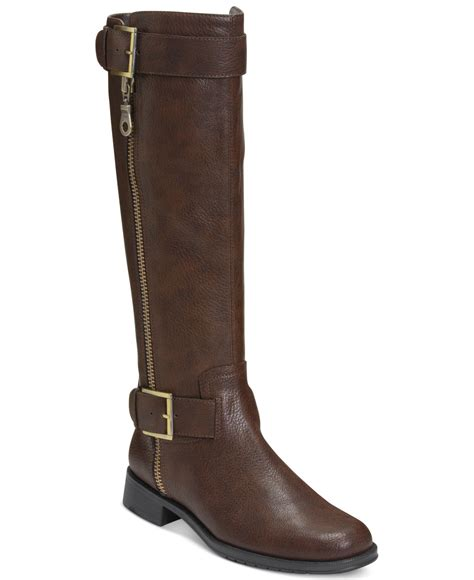 aerosole boots aerosoles ride around boots in brown lyst