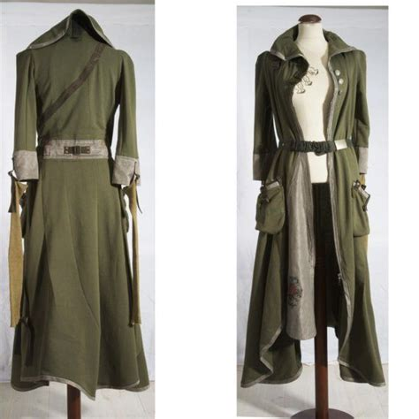 8 Clothes That In A Single Glance by Khaki Green Tea Coat And Dress All In One