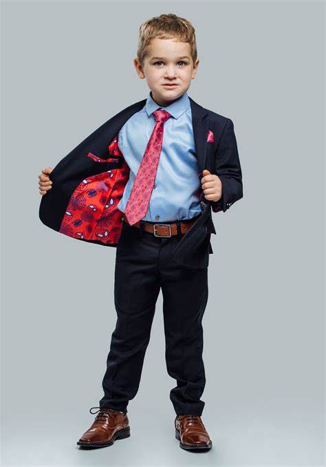 Boy And Fashion Avenger 1 secret identity spider suit for boys
