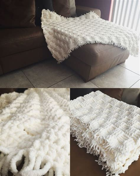 afghan pattern chunky yarn soft and chunky bernat baby blanket with crochet basket