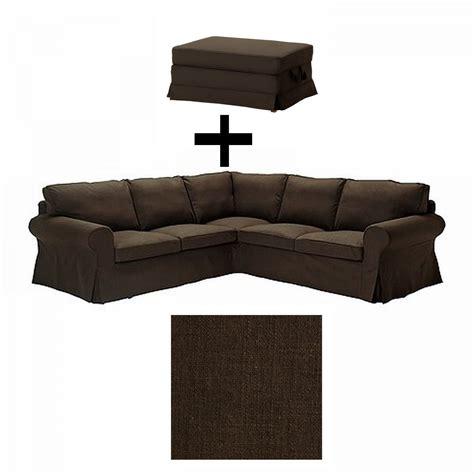 Ikea Ektorp 2 2 Corner Sofa W Bromma Footstool Ottoman Ektorp Corner Sofa Slipcover