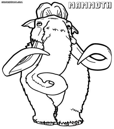 coloring sheet mammoth coloring pages coloring pages to and print