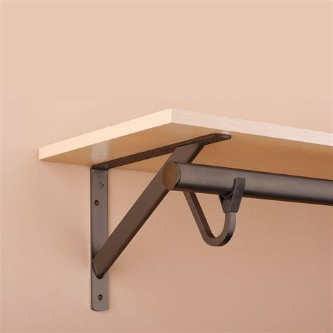 Closet Shelf Brackets And Rods by Closet Pro 11 1 4 In Heavy Duty Bronze Shelf And Rod