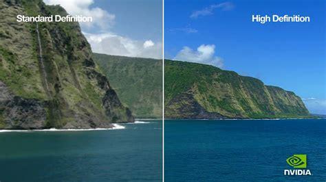 high def standard vs high definition nvidia 1080p