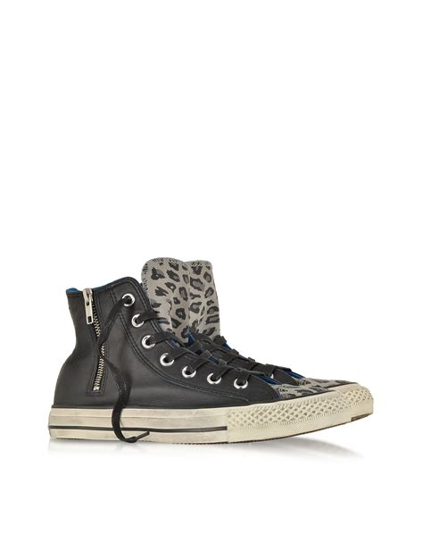 Converse Limited Edition Chair Print Shoe by Converse All Hi Zipped Animal Print Leather Suede