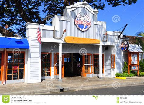 City Awning Bubba Gump S Lahaina Maui Editorial Photography Image