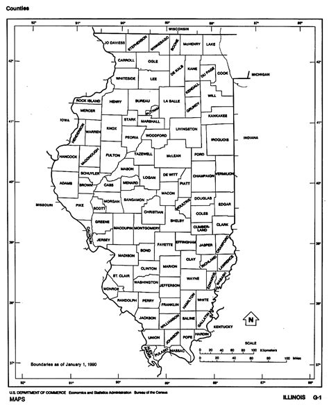 coloring page map of illinois illinois state map with counties location and outline of