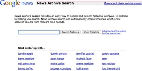 google images archive google drops news archive search home page