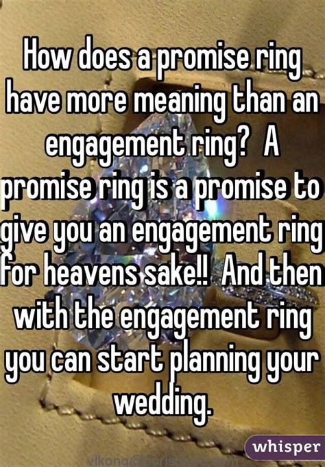 how does a promise ring more meaning than an