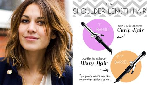 best size curling barrel for medium length super fine hair the right curling iron for your hair length