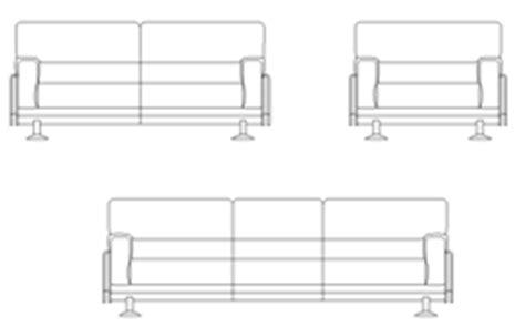 divano 3d dwg divani in prospetto