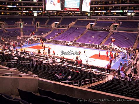 section pr3 staples center staples center premier 3 clippers lakers rateyourseats com