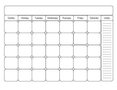printable calendar black  white ten  printable calendar
