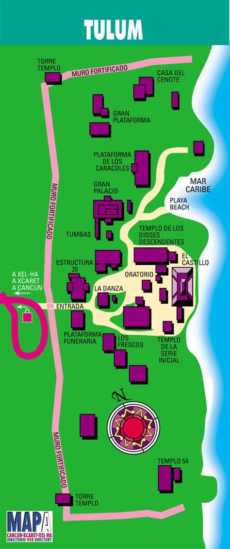 tulum mexico map mayan ruins ruins and maps