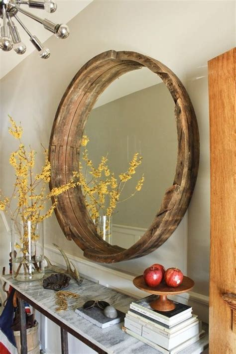 8 ideas to use a round mirror in a large living room diy wine barrel mirrors 15 creative and unique diy