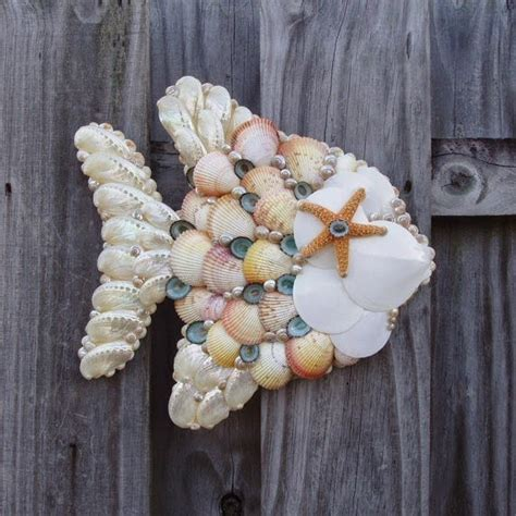 craft projects with shells seashell craft wall hanging decoration ideas