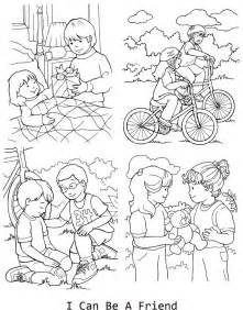 I Can Be A Friend Coloring Page For Lesson 33 Lds Coloring Pages Lds
