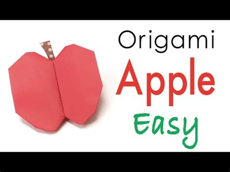 Origami Apple - easy origami paper apple fruit origami kawaii 141