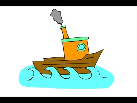 how to draw a boat youtube how to draw a boat art for kids youtube