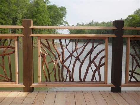 custom banisters deck railings for lissara lodge north carolina triad