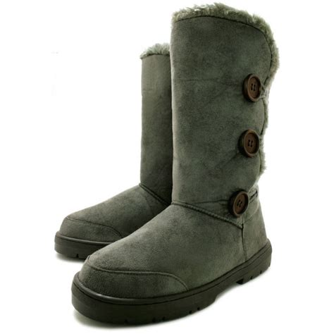 winter shoes buy itzel flat fur winter boots grey suede style